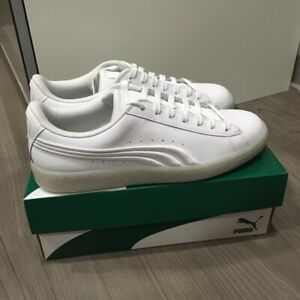 46af88c264a1 Puma Men s Basket Classic Badge Iced White Shoes Sneakers 364482 01 ...