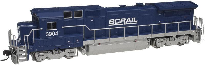 Atlas 40000498 N Scale Ge Dash 8-40B BC Cocheril  3904 con NCE DCC, nuevo