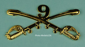 9th-Cavalry-Crossed-Sabers-Large-Hat-Pin-Black-Buffalo-Soldiers