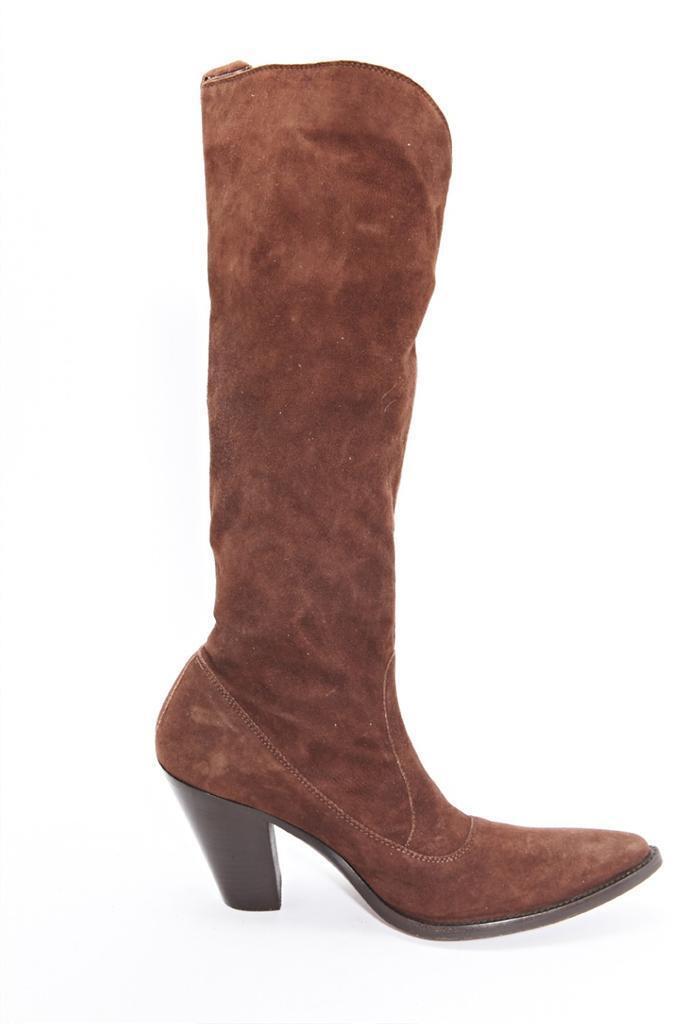 memorizzare SARTORE donna Marrone Suede Cowboy Pointy Toe Knee High Heel Heel Heel avvio 6.5-36.5 NEW  stile classico