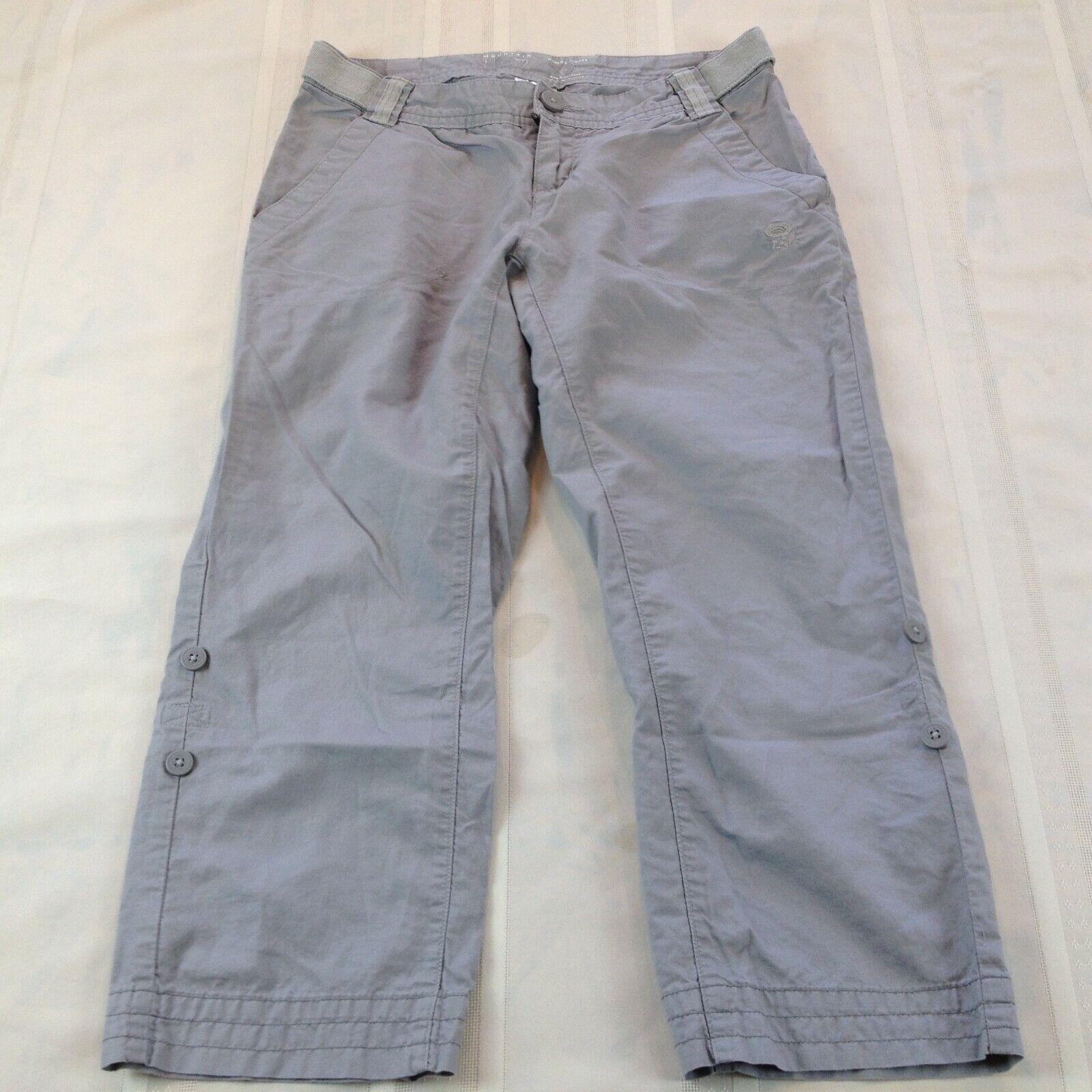 MOUNTAIN HARDWEAR Hemp Blend Adjustable Waist Roll-Bottom Hiking Pants Women's 2