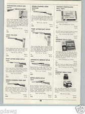 1959 PAPER AD Daisy Toy Rifles Guns Double Barrel Cork Smoker Cowboy Holster