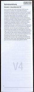 Diplomatique Brawa Original Instructions Pour Le Premium-décodeur Digital Sound Décodeur V4 (esu V4)-ldecoder Sounddecoder V4 (esu V4) Fr-fr Afficher Le Titre D'origine