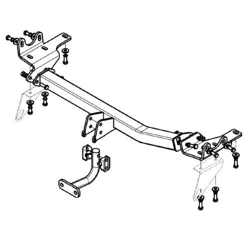 Witter Towbar for Lexus RX450h 2009-2015 Flange Tow Bar