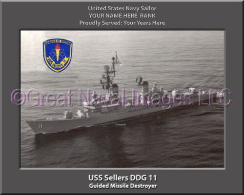 USS Sellers DDG 11 Personalized Canvas Ship Photo Print Navy Veteran Gift