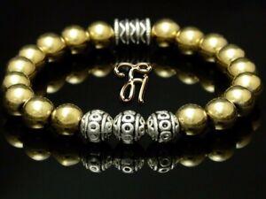 Haematit-gold-Hematit-Armband-Bracelet-Perlenarmband-Silber-Beads-8mm