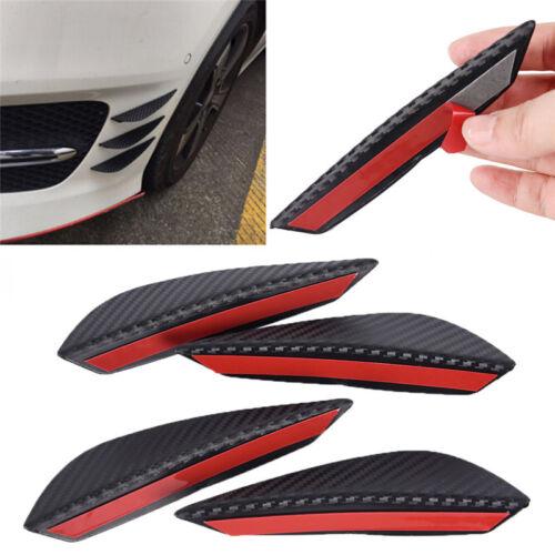 4× Carbon Fiber Car Front Bumper Splitter Fin Spoiler Canards Exterior Body new