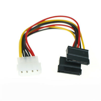 15 Pin Sata Male to Sata Female and 4Pin LP4 Power Splitter Cable 18cm