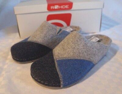 Pantofole Rohde Sandali Feltro Blu & Tonalità Di Grigio Antishock Tg. 36 Articolo 6023-mostra Il Titolo Originale Lustro Incantevole
