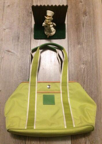 Coach Handbag Lime Green Purse Nylon Waterproof Ba