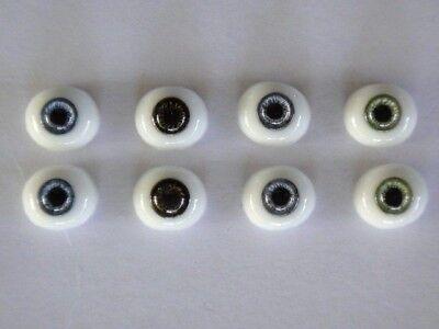 Reborning Yeux en verre-paperweight 14 mm pour Poupées anciennes ou modernes