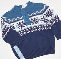 Baby Gap Boy's Blue Cotton Fair Isle Nordic Sweater