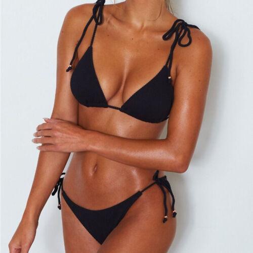 Women/'s Push Up Padded Bikini Set Brazilian Swimsuit Swimwear Beachwear Bathing