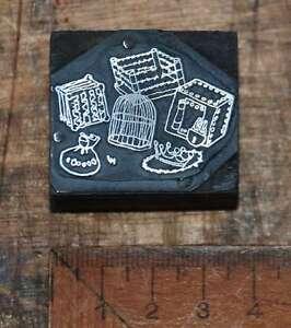 Druckstock-original-aus-Druckerei-Klischee-Druckplatte-Blei-Druckstock-Druck