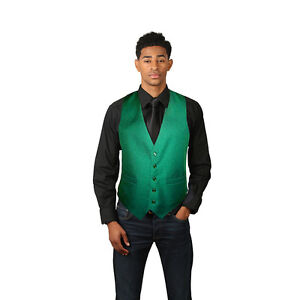 Men's Emerald Green Full Back Dress Vest