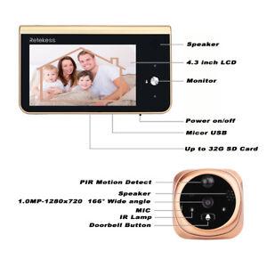 Retekess T13d 2 4ghz Wifi Smart Peephole Video Doorbell
