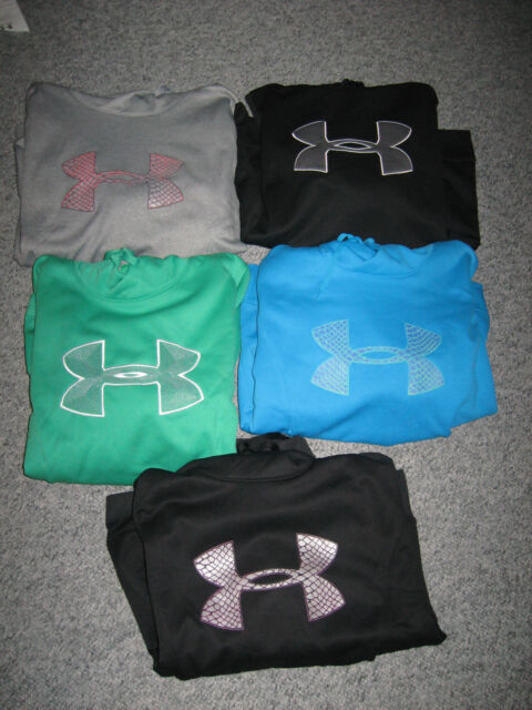 UNDER ARMOUR Women's Big Logo Cold Gear Storm or  Regular Hoodies,100% Polyester