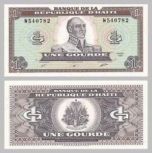 Karibik Bright Haiti 1 Gourde 1989 P253a Unz. Papiergeld Welt