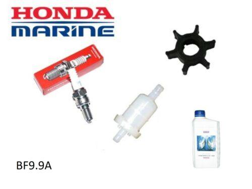 Impeller Spark Plug Fuel Filter Honda 9.9hp BF9.9A Outboard Service Kit