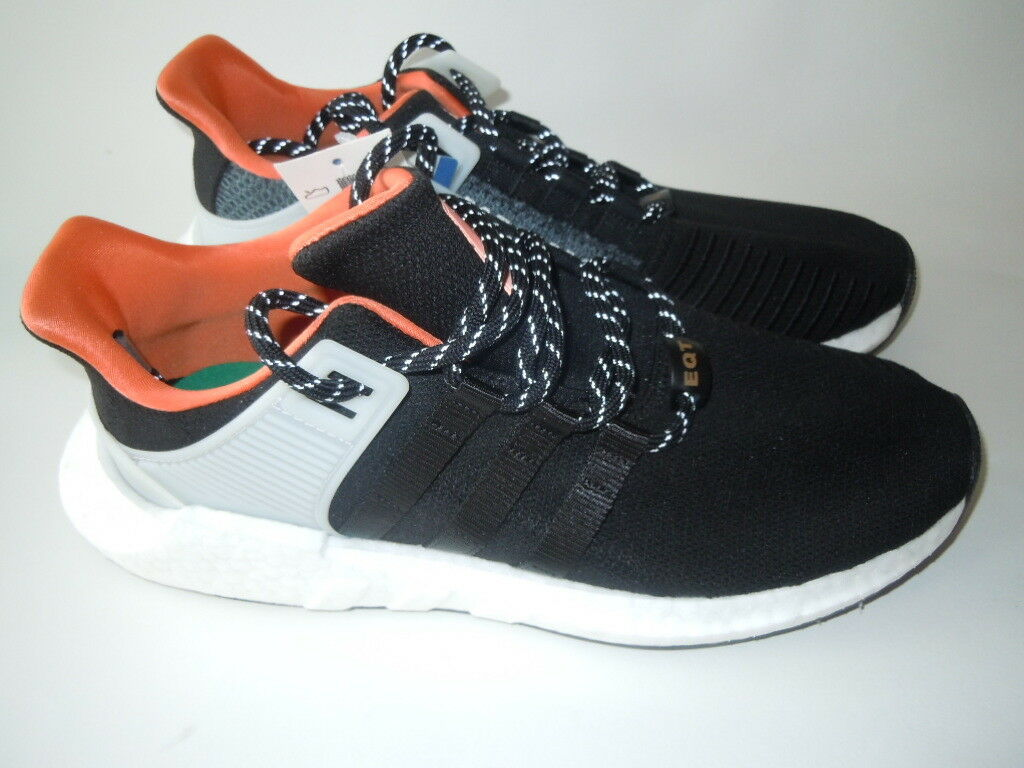 Adidas Orig Eqt Support 93-17 ADV Boost Black orange WELDING PK Size 9.5 CQ2396