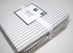 Pottery-Barn-Teen-Multi-Colors-Classic-Stripe-Cotton-Full-Sheet-Set-New