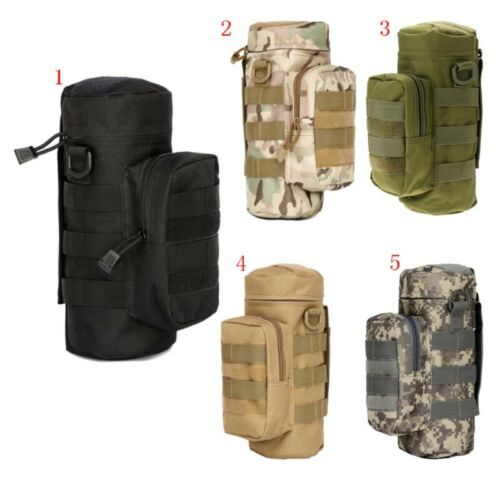 Tactical Military Outdoor Water Bottle Bag Zipper Pouch Kettle Holder Molle New