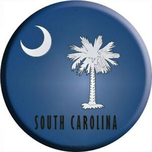 Sc South Carolina State Flag 12 Round Metal Sign Us Patriotic Man