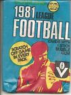 1981 Scanlens Unopened Packet Australian Rules Football Bubble Gum Wrapper VFL