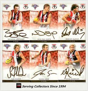 2007 Select AFL Champions Gold Foil Signature Card Team Set (6)-St. Kilda 9316818001247