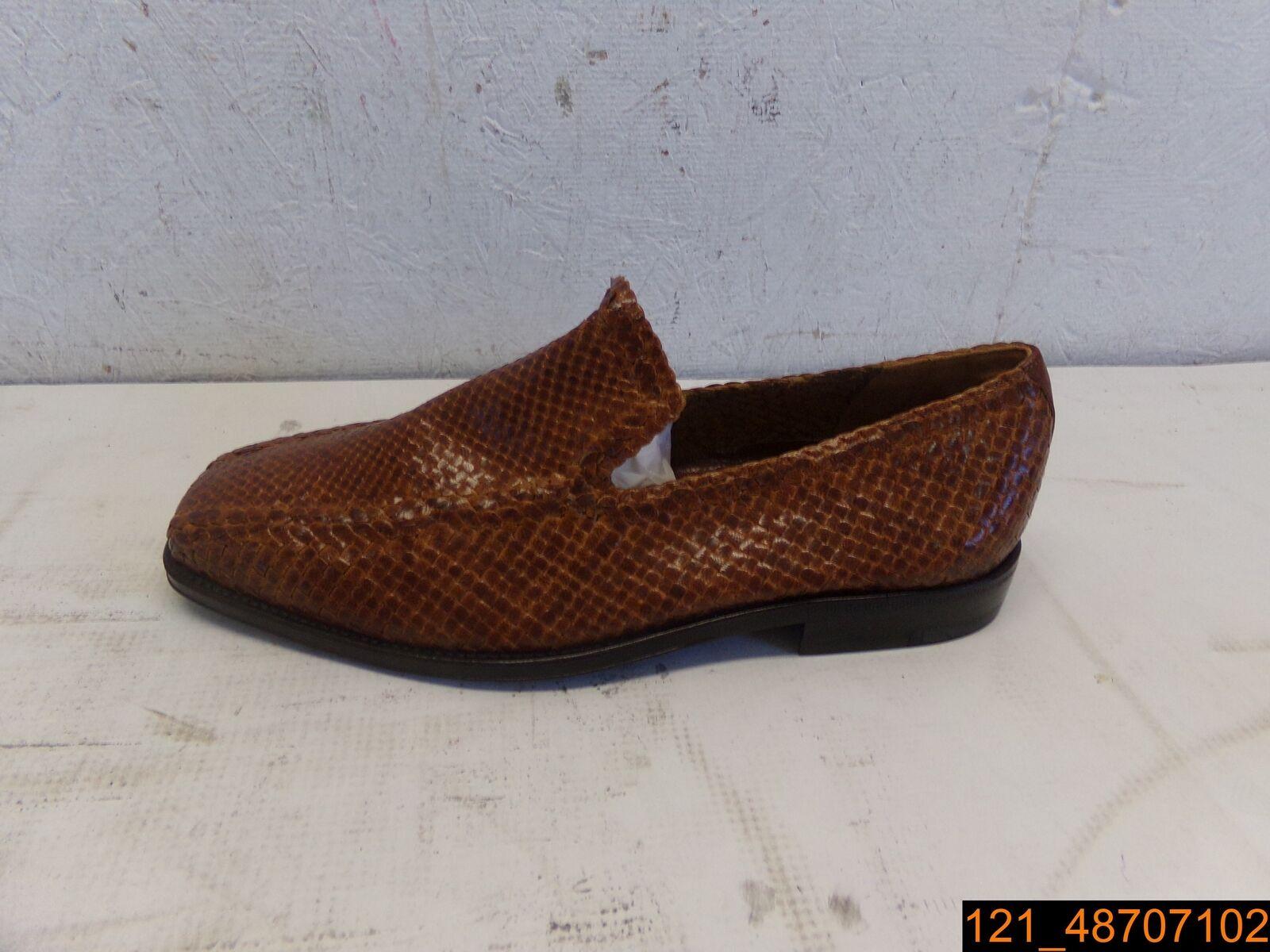 LEFT schuhe ONLY, A.Testoni braun Leather Slip On schuhe, Größe 6