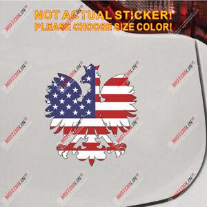 STICKER*** ***POLAND POLISH VINYL FLAG DECAL