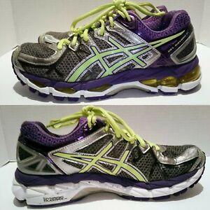 Details about ASICS Gel Kayano 21 Womens Size 7 Running Shoes T4H7N GrayPurpleYellow