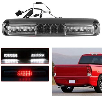 New Clear LED 3rd Brake Lights For 1999-2006 Chevy Silverado GMC Sierra High Mount Cargp Tail Lamp Red