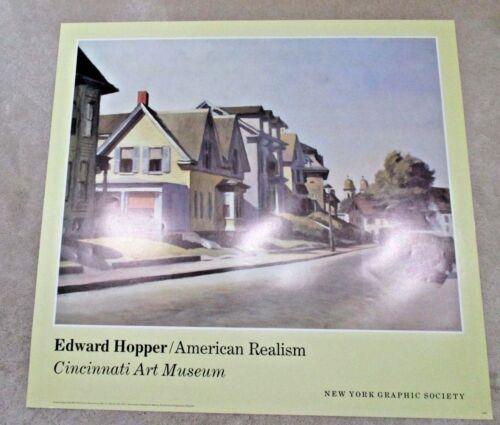 New Edward Hopper American Realism Art Poster Print Street Scene Gloucester 1940