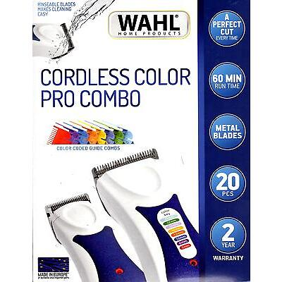 WAHL ColourPro WET & DRY BONUS COMBO. Cord/Cordless Colour Pro Clipper & Trimmer