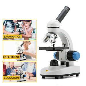 Battery Not Include 20X 40X Stereo Compound Microscopes WF10X with LED Light for Students Lab Kids Compound Microscopes