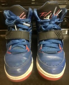 0690d3d0c37 Nike Air Jordan Flight 97 BG Hi Top Trainers Blue Red Sz.5.5Y ...