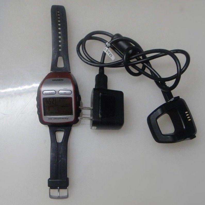 Garmin Forerunner 305 GPS HRM Watch w  chargerTESTED
