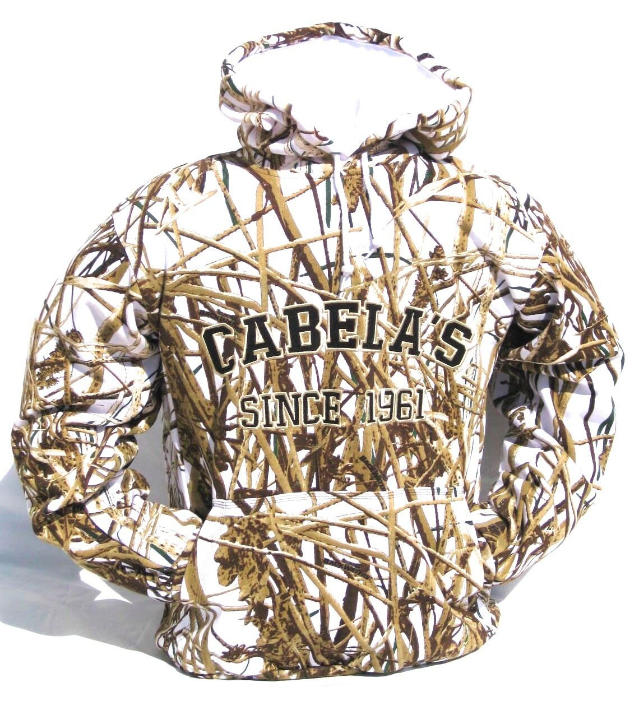 Cabela's para hombre Peso Pesado 420g Mossy Oak Oak Oak Realtree MAX4 aves acuáticas Sudadera Con Capucha De Nieve 95aab2