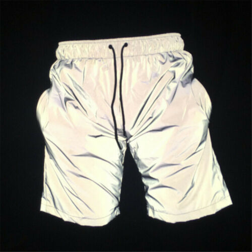 Hot 3M Reflective Short Pants Sports Mesh Breathable Cycling Jogging Trousers