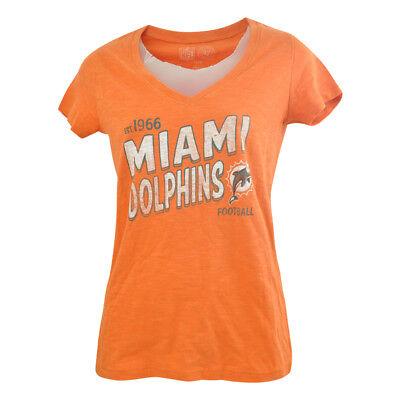 Baseball & Softball Haben Sie Einen Fragenden Verstand Nfl '47 Marke Damen Miami Dolphins Team Start Scrum V-ausschnitt T-shirt