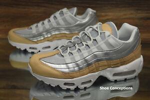 buy popular 37c0c cfd39 Image is loading Nike-Air-Max-95-SE-PRM-Platinum-Silver-