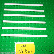LEGO x6 White 12 M Cross Axle Technic Rod 3708 SETS 10134 7658 9495 3185 10244