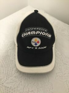 Pittsburgh-Steelers-2005-AFC-Conference-Champions-Hat-Reebok-NFL-Football-Cap