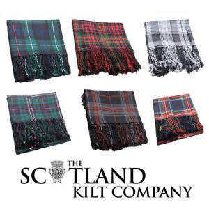 Neuf Scottish Highland Kilt Tartan Polyviscose Fly Plaid-choix Parmi 15+ Tartans-afficher Le Titre D'origine