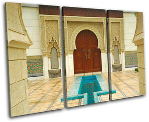Turkish Baths World Cultures TREBLE CANVAS WALL ART Picture Print VA