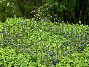 Détails sur Miniature Maison de Poupée Fée Meubles Jardin ~ Rustique Fer  Clôture ~ Neuf