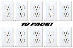 Fake American Standard Wall Outlet Stickers Plug Decals Vinyl Prank Joke 10 PACK