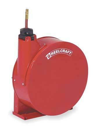 "Spring Return Hose Reel with Hose 300 psi REELCRAFT 5450 ELP 1//4/"" x 50 ft"