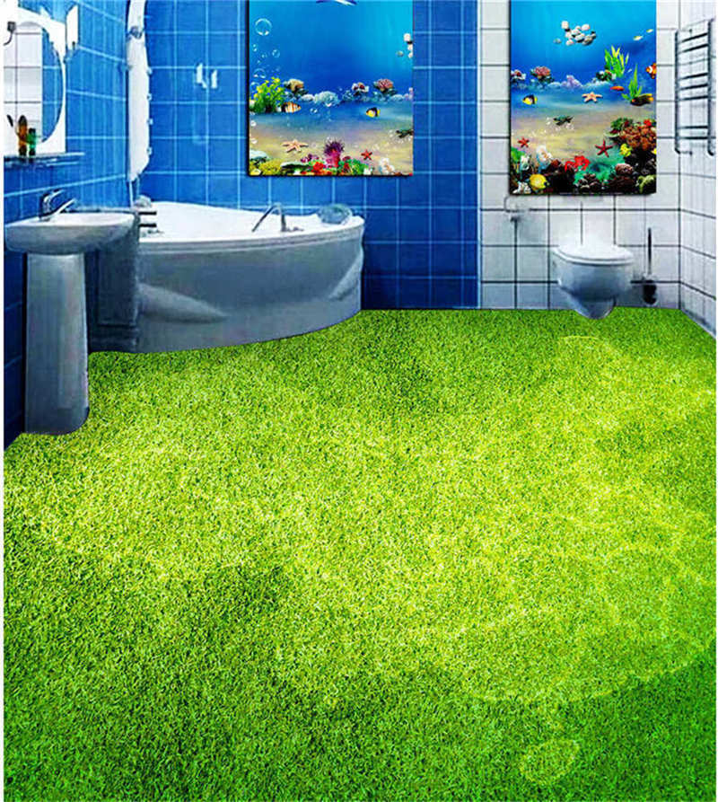 Grün painting 3D Floor Mural Photo Flooring Wallpaper Home Print Decoration Kid
